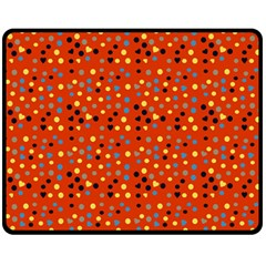 Red Retro Dots Fleece Blanket (medium)  by snowwhitegirl