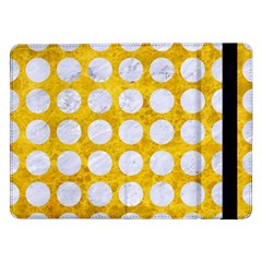 Circles1 White Marble & Yellow Marble Samsung Galaxy Tab Pro 12 2  Flip Case by trendistuff