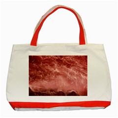 Red  Ocean Splash Classic Tote Bag (red) by snowwhitegirl