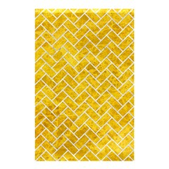 Brick2 White Marble & Yellow Marble Shower Curtain 48  X 72  (small)  by trendistuff