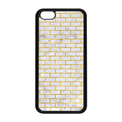 Brick1 White Marble & Yellow Marble (r) Apple Iphone 5c Seamless Case (black) by trendistuff