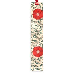 Japanese Floral Red Large Book Marks by snowwhitegirl