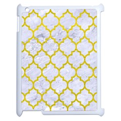 Tile1 White Marble & Yellow Leather (r) Apple Ipad 2 Case (white) by trendistuff