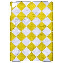 Square2 White Marble & Yellow Leather Apple Ipad Pro 9 7   Hardshell Case by trendistuff