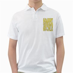 Skin4 White Marble & Yellow Leatherskin4 White Marble & Yellow Leather Golf Shirts by trendistuff