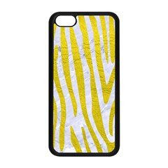 Skin4 White Marble & Yellow Leatherskin4 White Marble & Yellow Leather Apple Iphone 5c Seamless Case (black) by trendistuff