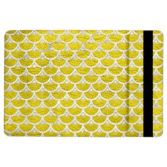 Scales3 White Marble & Yellow Leather Ipad Air 2 Flip by trendistuff