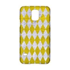 Diamond1 White Marble & Yellow Leather Samsung Galaxy S5 Hardshell Case  by trendistuff