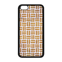 Woven1 White Marble & Yellow Grunge (r) Apple Iphone 5c Seamless Case (black) by trendistuff