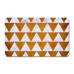 Triangle2 White Marble & Yellow Grunge Magnet (rectangular) by trendistuff