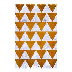 Triangle2 White Marble & Yellow Grunge Shower Curtain 48  X 72  (small)  by trendistuff