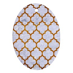 Tile1 White Marble & Yellow Grunge (r) Ornament (oval) by trendistuff