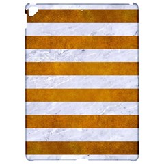 Stripes2white Marble & Yellow Grunge Apple Ipad Pro 12 9   Hardshell Case by trendistuff