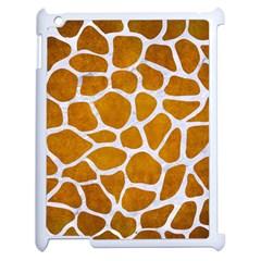 Skin1 White Marble & Yellow Grunge (r) Apple Ipad 2 Case (white) by trendistuff
