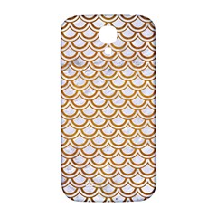Scales2 White Marble & Yellow Grunge (r) Samsung Galaxy S4 I9500/i9505  Hardshell Back Case by trendistuff