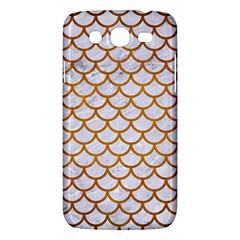 Scales1 White Marble & Yellow Grunge (r) Samsung Galaxy Mega 5 8 I9152 Hardshell Case  by trendistuff