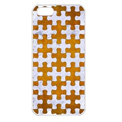 Puzzle1 White Marble & Yellow Grunge Apple Iphone 5 Seamless Case (white) by trendistuff