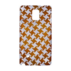 Houndstooth2 White Marble & Yellow Grunge Samsung Galaxy Note 4 Hardshell Case by trendistuff