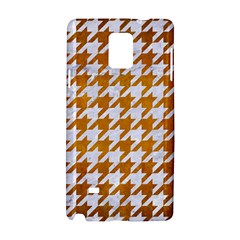 Houndstooth1 White Marble & Yellow Grunge Samsung Galaxy Note 4 Hardshell Case by trendistuff
