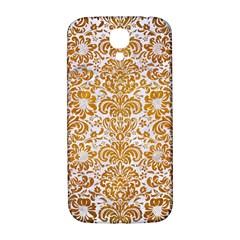 Damask2 White Marble & Yellow Grunge (r) Samsung Galaxy S4 I9500/i9505  Hardshell Back Case by trendistuff