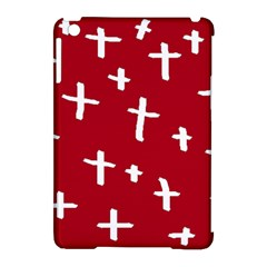 Red White Cross Apple Ipad Mini Hardshell Case (compatible With Smart Cover) by snowwhitegirl