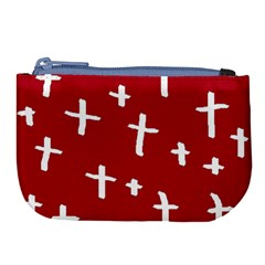 Red White Cross Large Coin Purse by snowwhitegirl