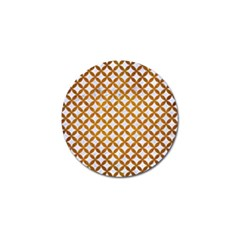 Circles3 White Marble & Yellow Grunge (r) Golf Ball Marker (10 Pack) by trendistuff