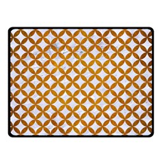 Circles3 White Marble & Yellow Grunge (r) Double Sided Fleece Blanket (small)  by trendistuff