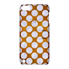 Circles2 White Marble & Yellow Grungecircles2 White Marble & Yellow Grunge Apple Ipod Touch 5 Hardshell Case With Stand by trendistuff