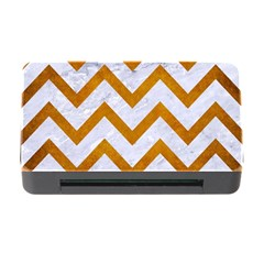 Chevron9 White Marble & Yellow Grunge (r) Memory Card Reader With Cf by trendistuff