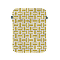 Woven1 White Marble & Yellow Denim (r) Apple Ipad 2/3/4 Protective Soft Cases by trendistuff