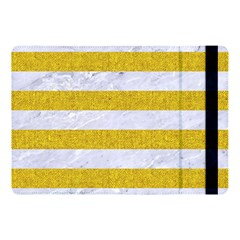 Stripes2white Marble & Yellow Denim Apple Ipad Pro 10 5   Flip Case