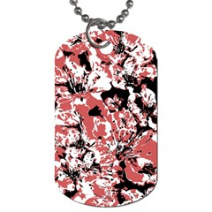 Textured Floral Collage Dog Tag (two Sides) by dflcprints