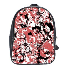 Textured Floral Collage School Bag (xl) by dflcprints
