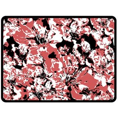 Textured Floral Collage Double Sided Fleece Blanket (large)  by dflcprints