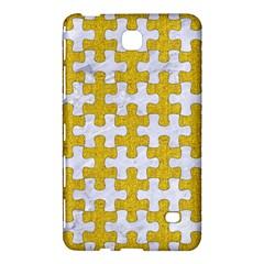 Puzzle1 White Marble & Yellow Denim Samsung Galaxy Tab 4 (8 ) Hardshell Case  by trendistuff