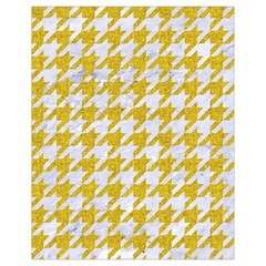 Houndstooth1 White Marble & Yellow Denim Drawstring Bag (small) by trendistuff