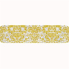 Damask2 White Marble & Yellow Denim (r) Large Bar Mats