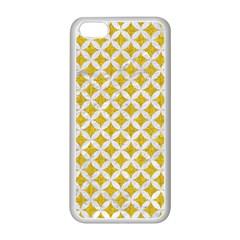 Circles3 White Marble & Yellow Denim Apple Iphone 5c Seamless Case (white) by trendistuff