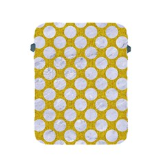 Circles2 White Marble & Yellow Denim Apple Ipad 2/3/4 Protective Soft Cases by trendistuff