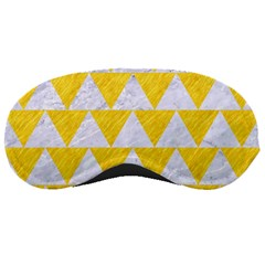 Triangle2 White Marble & Yellow Colored Pencil Sleeping Masks by trendistuff