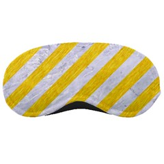 Stripes3 White Marble & Yellow Colored Pencil (r) Sleeping Masks by trendistuff