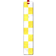 Square1 White Marble & Yellow Colored Pencil Large Book Marks by trendistuff