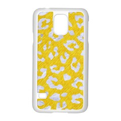Skin5 White Marble & Yellow Colored Pencil (r) Samsung Galaxy S5 Case (white) by trendistuff