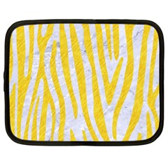 Skin4 White Marble & Yellow Colored Pencil Netbook Case (xl)  by trendistuff