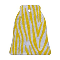 Skin4 White Marble & Yellow Colored Pencil Bell Ornament (two Sides) by trendistuff