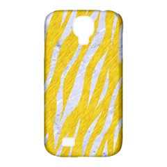 Skin3 White Marble & Yellow Colored Pencil Samsung Galaxy S4 Classic Hardshell Case (pc+silicone) by trendistuff