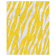 Skin3 White Marble & Yellow Colored Pencil Drawstring Bag (small) by trendistuff