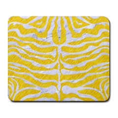 Skin2 White Marble & Yellow Colored Pencil Large Mousepads by trendistuff