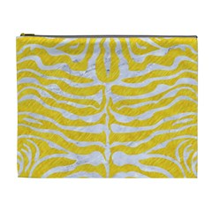 Skin2 White Marble & Yellow Colored Pencil Cosmetic Bag (xl) by trendistuff